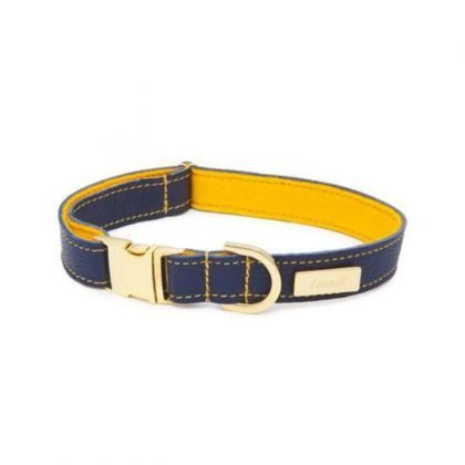 Lurril Blue Leather Collar from Forsyth and Tedd