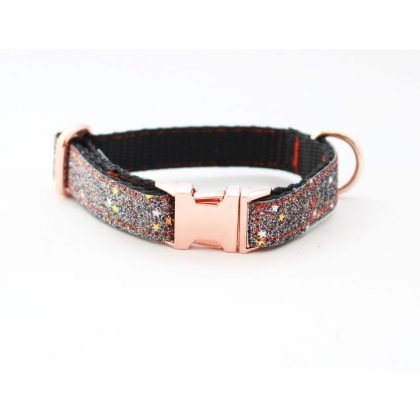 Pet Pooch Boutique Graphite Sparkly Collar from Forsyth and Tedd