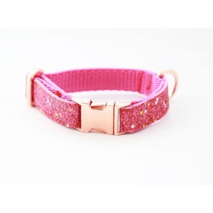 Pet Pooch Boutique Pink Diamon Blaze Collar from Forsyth and Tedd