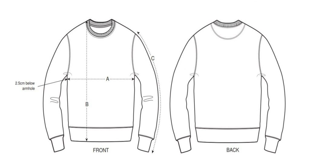 Forssyth and Tedd Sweatshirt Sizing